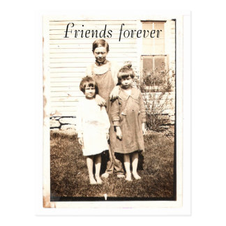 Vintage Portrait of Brothers and Sisters Postcard