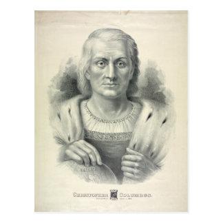Vintage Portrait of Christopher Columbus Postcard