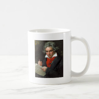 Vintage portrait of composer, Ludwig von Beethoven Coffee Mug