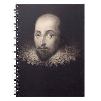 Vintage Portrait of Shakespeare Spiral Note Book