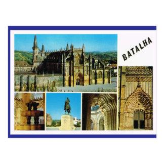 Vintage Portugal Batalha, Imperial palace Postcard