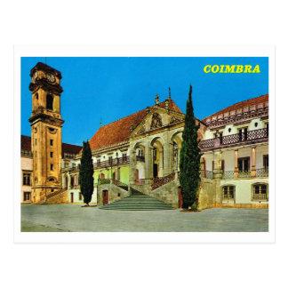 Vintage Portugal,  Coimbra monastery Postcard
