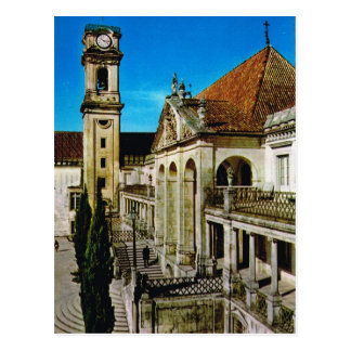Vintage Portugal,  Coimbra, University Postcard