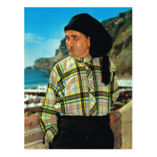 Vintage Portugal,  Nazare, Fisherman Postcard