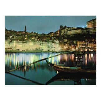 Vintage Portugal, Porto, Wine boat on the Douro Postcard