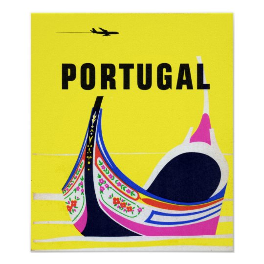 Vintage Portugal Travel Poster
