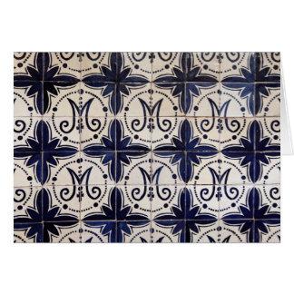 Vintage portuguese azulejo card