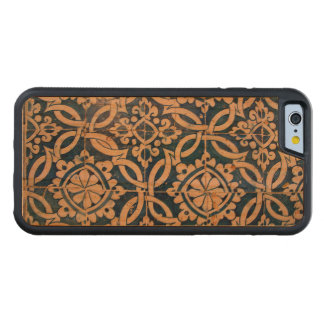 Vintage portuguese azulejo carved cherry iPhone 6 bumper case