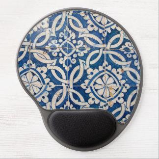 Vintage portuguese azulejo gel mouse pad