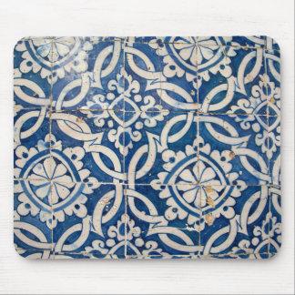 Vintage portuguese azulejo mouse pad