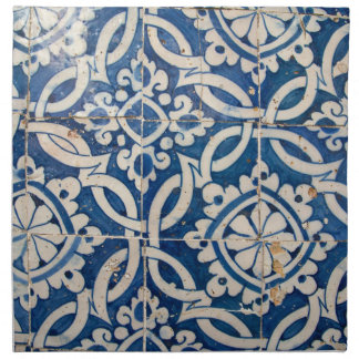 Vintage portuguese azulejo napkin
