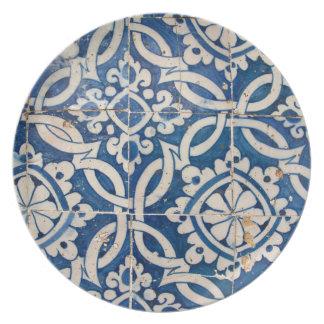 Vintage portuguese azulejo plate