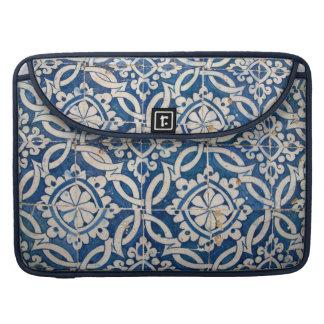 Vintage portuguese azulejo sleeve for MacBooks
