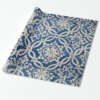 Vintage portuguese azulejo wrapping paper