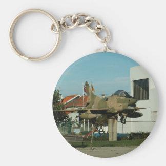 Vintage Portuguese Fighter Jet Basic Round Button Key Ring