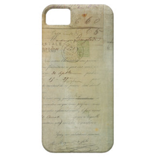 Vintage Post and Little Girl Script Collage iPhone 5 Cover