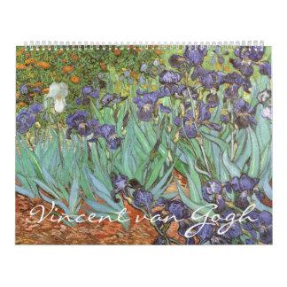 Vintage Post Impressionism Art by Vincent van Gogh Calendar