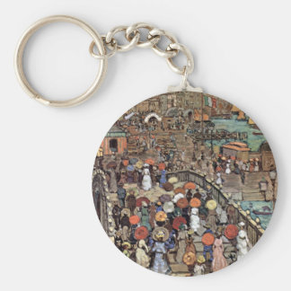 Vintage Post Impressionism, Venice by Prendergast Basic Round Button Key Ring