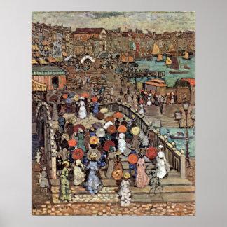 Vintage Post Impressionism, Venice by Prendergast Poster