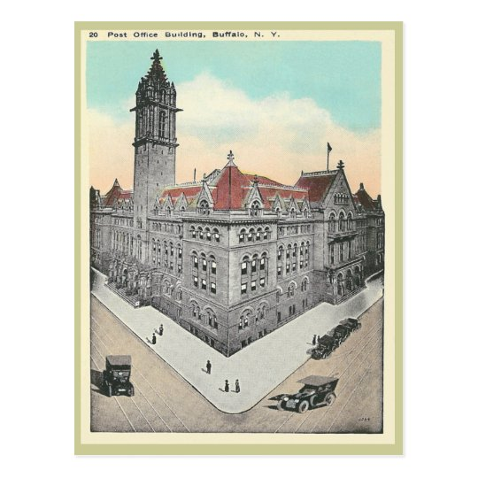 Vintage Post Office Buffalo, New York Postcard