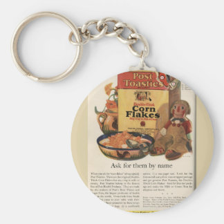 Vintage Post Toasties Ad Key Ring