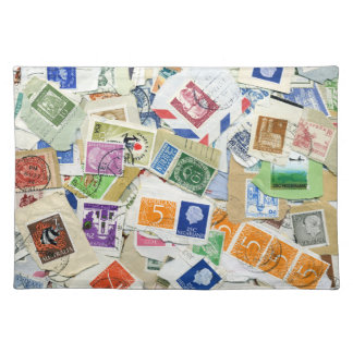 Vintage Postage Stamp Collage Placemat