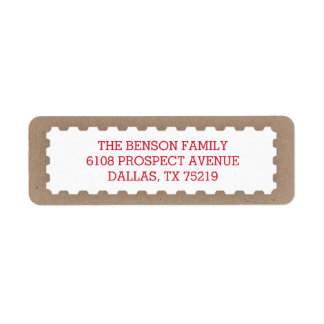 Vintage Postage Stamp Return Address Label
