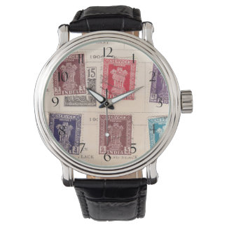 Vintage Postage Stamps from India Watches