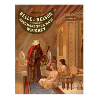 Vintage Postcard:  Belle of Nelson Whiskey Postcard