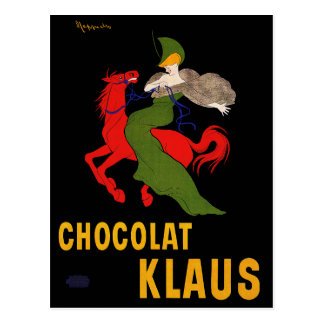 Vintage Postcard: Cappiello - Chocolat Klaus Postcard