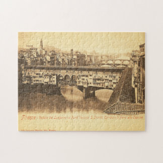 Vintage Postcard, Florence, Italy Jigsaw Puzzle
