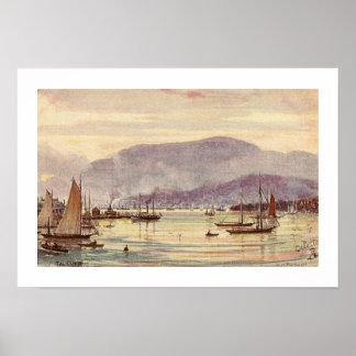 Vintage Postcard Hobart, Tasmania, Australia Poster