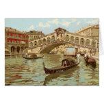 Vintage Postcard Ponte de ponte di Rialto, Venezia Greeting Card