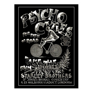 Vintage Postcard:  Psycho Cycles Postcard