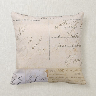 Vintage Postcards Pillow