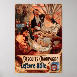 Vintage Poster Alphonse Mucha Biscuits Retro Art