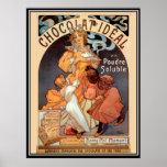 Vintage Poster alphonse mucha Chocolate Ad