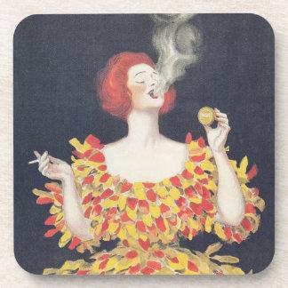 Vintage Poster Cachou Lajaunie Coaster