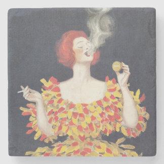 Vintage Poster Cachou Lajaunie Stone Coaster