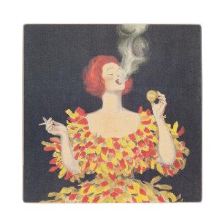 Vintage Poster Cachou Lajaunie Wood Coaster