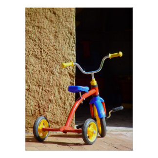 Vintage Poster Child's Tricycle Bike