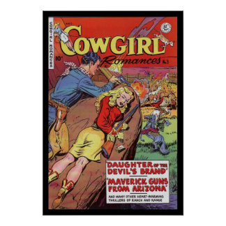 Vintage Poster Comic Book Covers Cowgirl