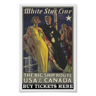 Vintage Poster for the White Star Line