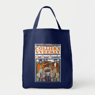 Vintage Poster from the Golden Age of Bicycles Grocery Tote Bag