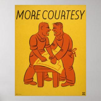 Vintage Poster - More Courtesy - POSTER