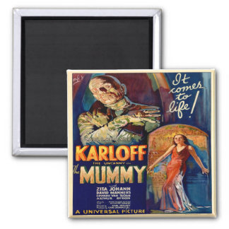 Vintage Poster of The Mummy  Magnet
