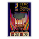 Vintage Poster Print Chicago Train Poster