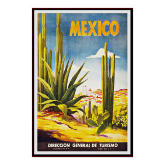 Vintage Poster Print Mexico Large