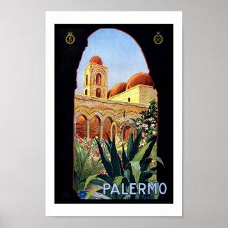 Vintage Poster Print Palermo Sicily