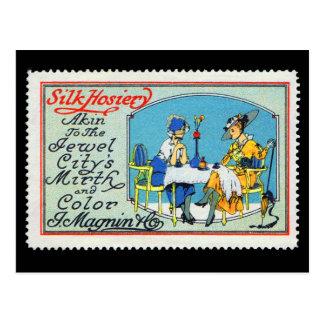 Vintage Poster Stamp Postcard Magnin San Francisco